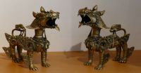 Pair of Lion Temple Protectors